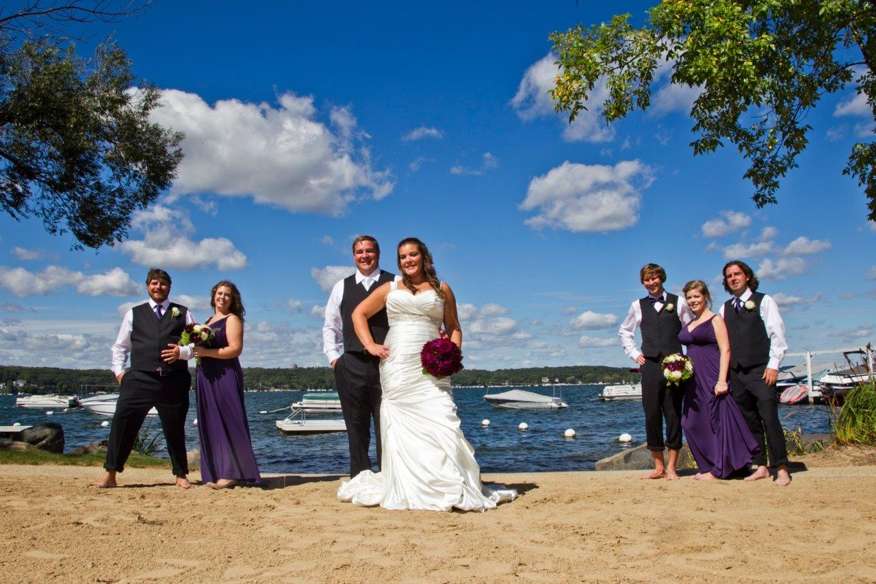 Wedding Photos at Wedding Banquet near Delavan