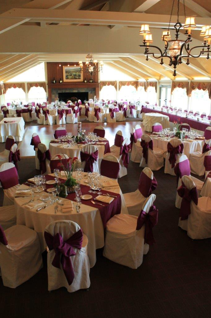 Wedding Photos at Wedding Banquet near Big Foot County Club
